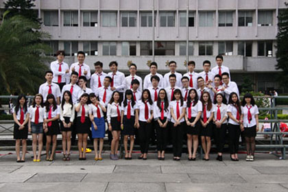 国际学院毕业生集体合照